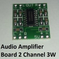 Audio Amplifier Board 2 Channel 3W 1