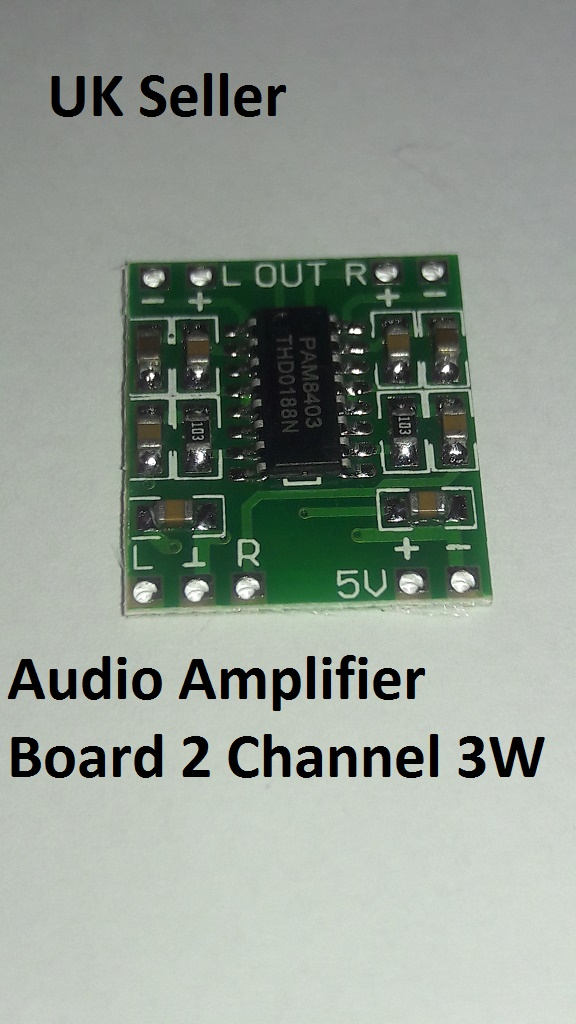 Audio Amplifier Board 2 Channel 3W Dc 2 5-5V Pam8403 Module Arduino